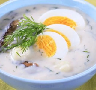 Potato soup with eggs(Kulajda)