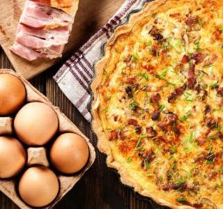 Quiche Lorraine with Gruyere and Bacon