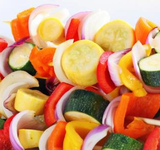 Rainbow Vegetable Kabobs