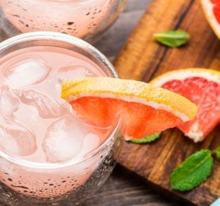 Red Grapefruit and Rum Spritzers