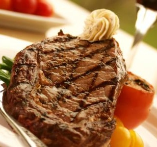Rib-Eye Steak with Savoury Butter