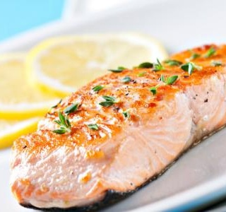 Roasted Salmon with Lemon Butter