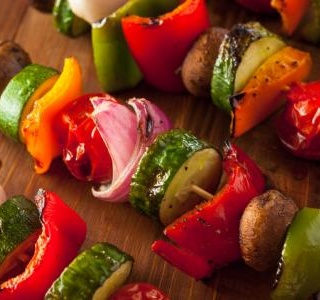 Roasted Veggie Skewers (Vegetable Kabobs)
