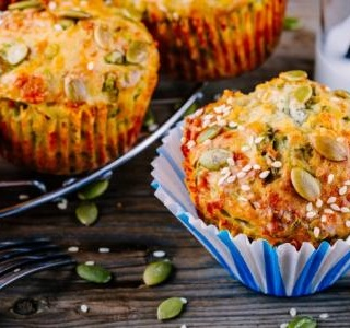 Savory Pumpkin, Spinach, and Feta Muffins