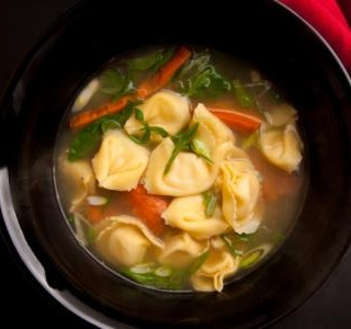 Tortellini, White Bean, and Turnip Greens Soup