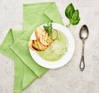 Zucchini Soup with Parmesan and White Wine