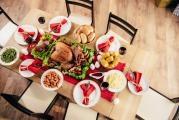 Christmas time around the table