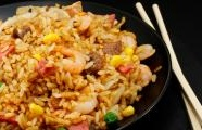Bacon, Egg and Shrimp Fried Rice