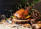 Brown sugar & spice-glazed turkey with candied carrots