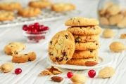 Christmas cranberry cookies