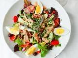 French Nicoise salad with tuna