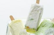 Lime & coconut ice lollies