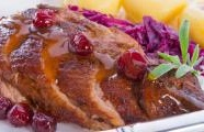 Roasted Duck with Cabbage