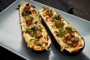 Stuffed Zucchini with Ricotta and Goat Cheese