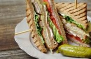 Turkey Club Sandwich with Pork Belly and Enhanced Mayo