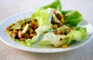 Vegetable and Tofu Lettuce Wraps with Miso Sambal